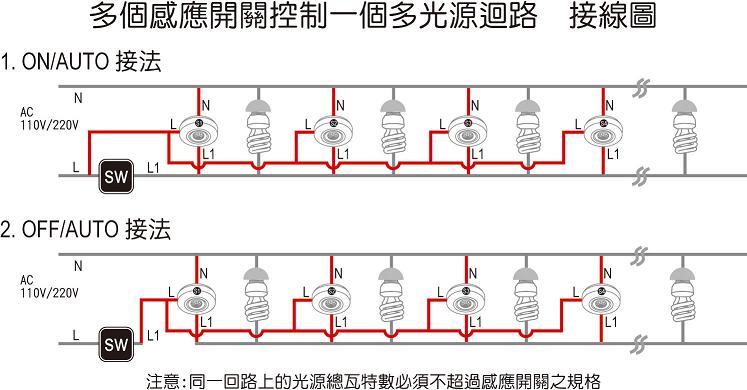 一控一照明电路接线图